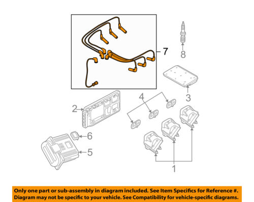 GM OEM Ignition Spark Plug-Wire OR Set-See Image 12192470