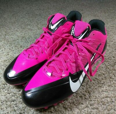 87b83f011a2 Nike Men s Pink Black Alpha Pro TD Flywire Football Cleats 579545-016 SZ 13