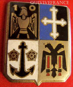 IN6138-INSIGNE-10-Regiment-du-Genie-email-dos-guilloche-embouti