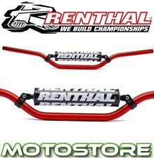 RENTHAL BRACED HANDLEBARS RED FITS YAMAHA XT660X 2004-2013 BAR PAD