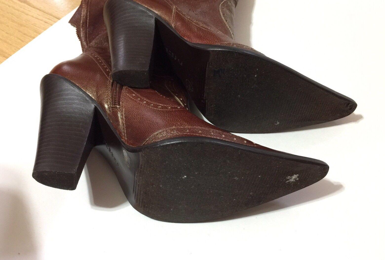 Bcbgirls Marrón Cuero Vaquero 7.5 Occidental Botas Zapato 7.5 Vaquero B/37 1/2 mujeres ed85cc