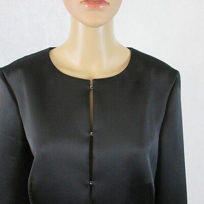 Modo Luccicante Blazer Bolero/, 3/4 Braccio Nel Colore Nero, Taglia 40- Lussuoso Nel Design
