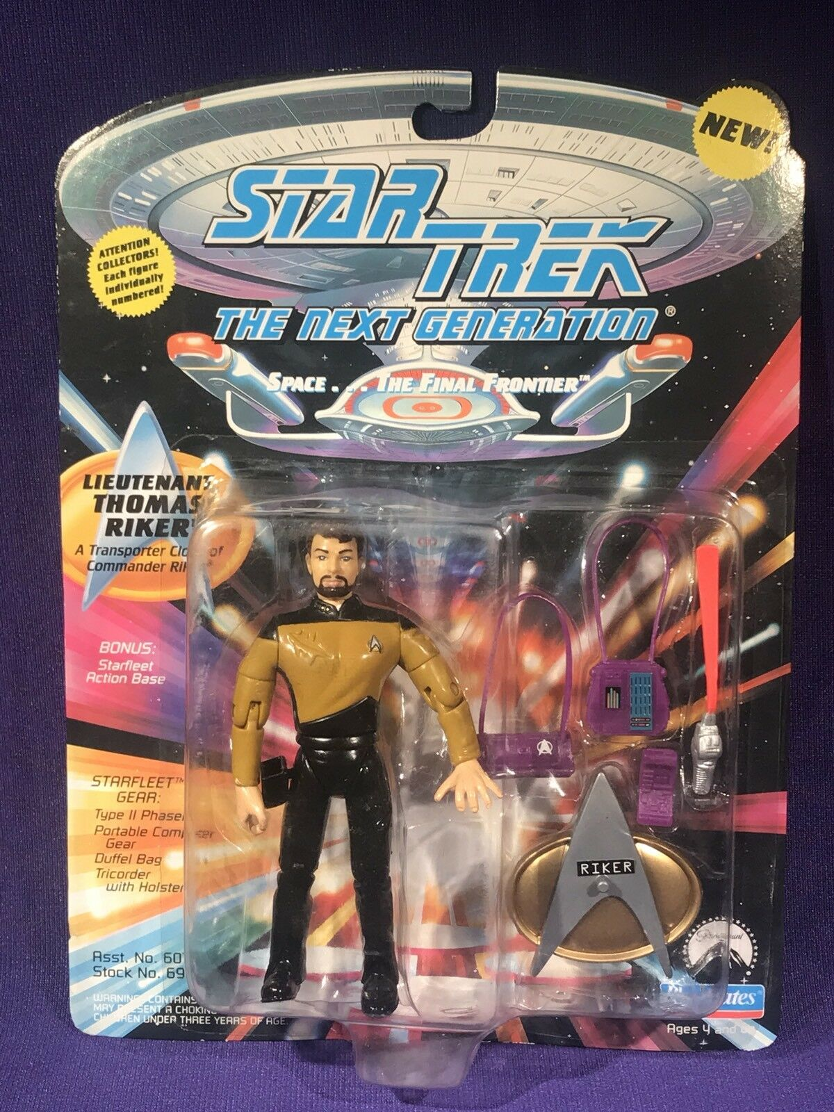 Die spielkameraden star trek tng next generation thomas riker william klon moc - 5  - figur