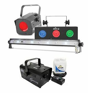 Chauvet DJ JAM Pack Silver Light Effects Package + Hurricane H700 Fog Machine