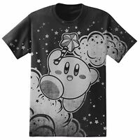 Nintendo Kirby Jumping Clouds And Stars T-shirt Licensed & Official