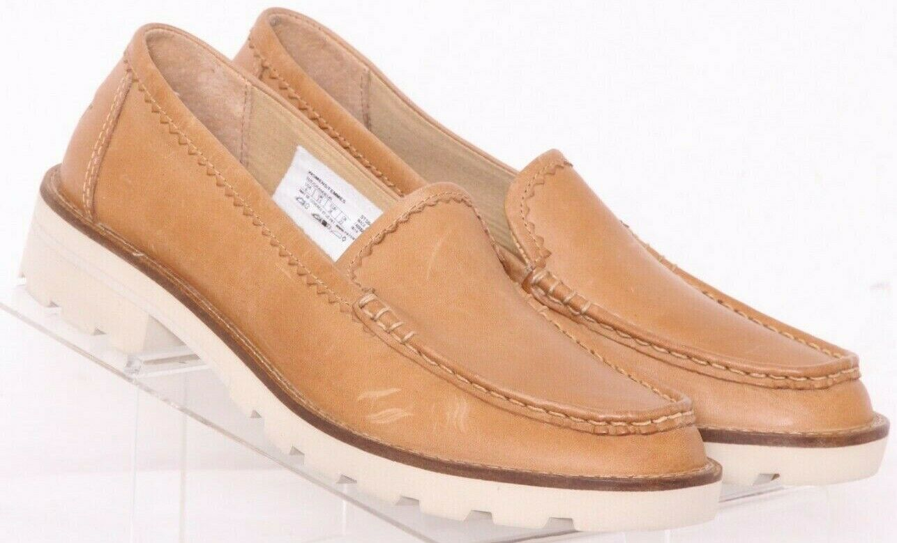 Sperry STS84400 Brown Leather Lag Moc Toe Slip On Loafer Shoes Women's US 6