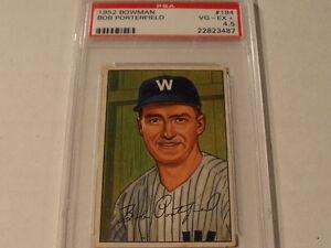 1952-BOWMAN-194-BOB-PORTERFIELD-Washington-Senators-PSA-4-5-VG-EX