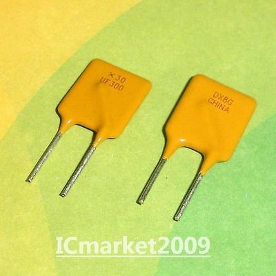 Resettable Fuse 30V 3A RGEF300 UF300 Radial Polyswitch Polyfuse
