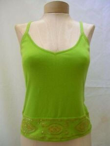 ETCETERA-GREEN-GOLD-TRIM-CAMISOLE-TOP-SHIRT-SHELL-sizes-S-M-NEW-115