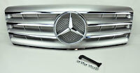 Mercedes S Class W140 92-99 4 Fin Front Hood Sport Silver Grill Grille