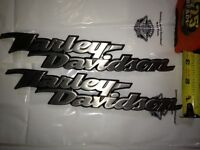 Bad A$$ Harley Davidson Fuel Gas Tank Emblems Medallion Pair