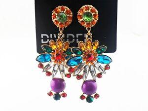H-amp-M-Rhinestone-Drop-Earrings