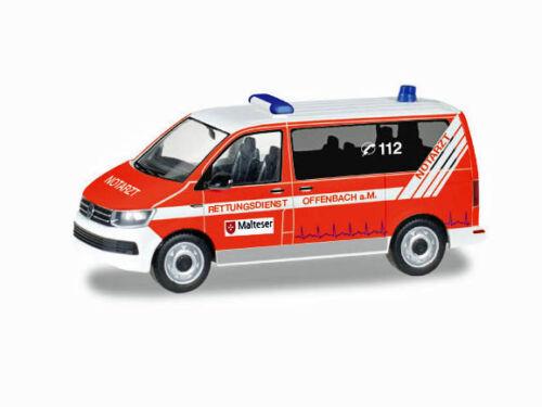 Herpa 093415 h0 auto VW t6 bus maltese Offenbach