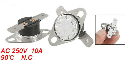5Pcs KSD301 NC 90 Celsius Temperature Control Switch Thermostat AC 250V 10A