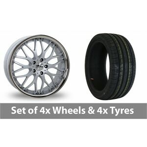 4-x-19-034-Zito-Torino-Silver-Alloy-Wheel-Rims-and-Tyres-245-35-19