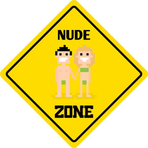 "* Aluminium nude Zone Drôle Métal Fantaisie Signe 12/""x12/"""