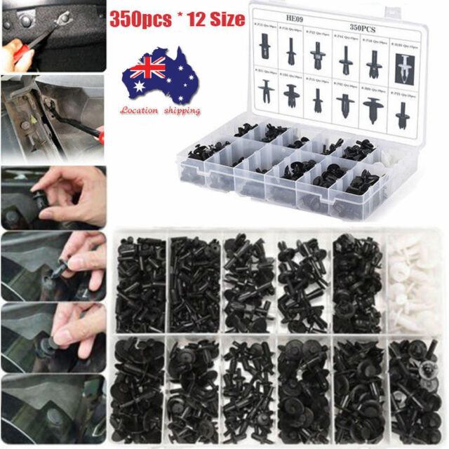 350XCar Body Plastic Push Pin Rivet Fasteners Trim Moulding Clip Screwdriver Set