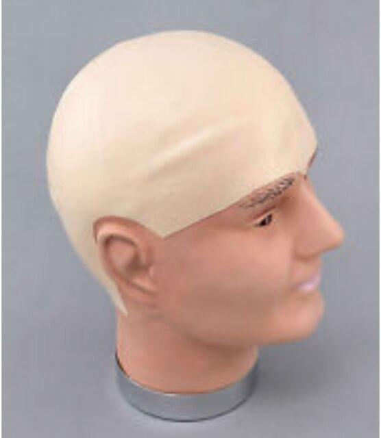 DELUXE THICK BALD CAP WIG CAP BALD HEAD UNCLE FESTER FANCY DRESS