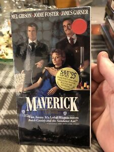 New Factory Sealed Maverick 1994 Vhs Mel Gibson Jodie Foster James Garner Ebay
