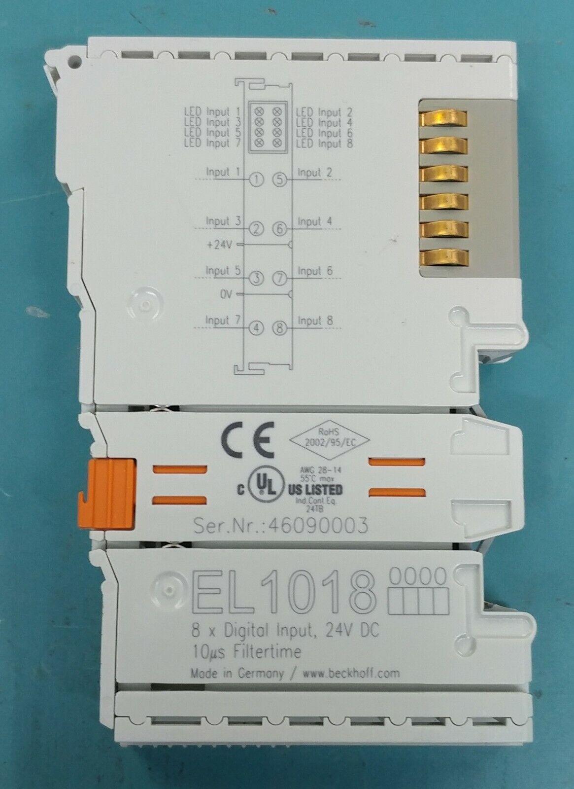 BECKHOFF EL1018 8x DIGITAL INPUT PLC