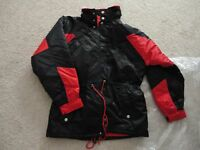 M Marlboro Unlimited Gear Vintage Warm Quilted Lined Nylon Coat Jacket