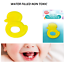 Baby teething water filled teething ring soothe gums BPA free non toxic