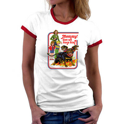 Mommy Can We Keep Him Cerberus Funny Ringer T Shirts Short Sleeve Women Tops Ebay See full episodes how to keep a mummy anime serie online free full hd. ebay