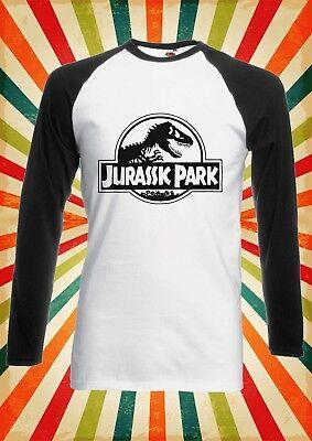 Jurassic Park World Dinosaurs Men Women Long Short Sleeve Baseball T Shirt 2092