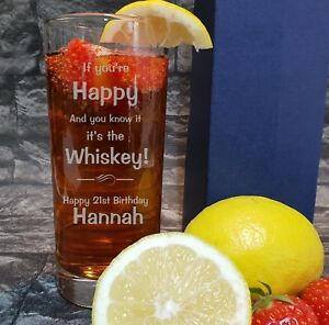 Impartial Personnalisé Gravé Hi Ball Verre Drôle Si Vous êtes Whiskey Hba91-afficher Le Titre D'origine ArôMe Parfumé