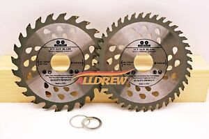 ( Set of 2 ) 115mm x 24 & 40 TCT Saw Blade for WOOD and PLASTIC Angle Grinder  5060636380001