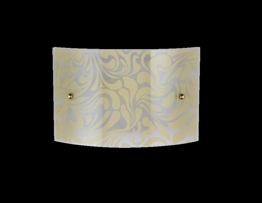 Stirling applique moderno con vetro decoro marmorizzato ambra