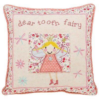 Small Pink Dear Tooth Fairy Cushion / Pillow * Girl's Nursery Decoration Gift