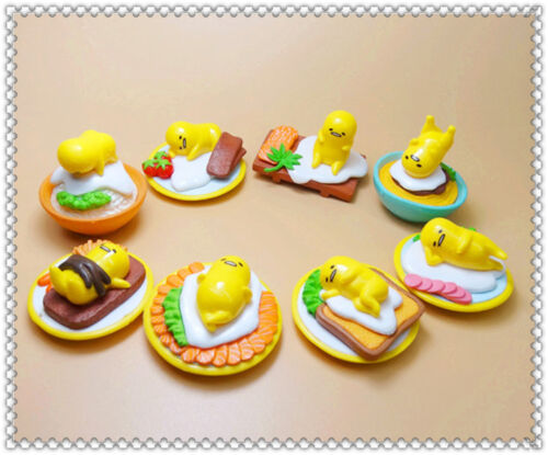 Gudetama Lazy Egg Funny Action Figure toy set 8pcs 4CM