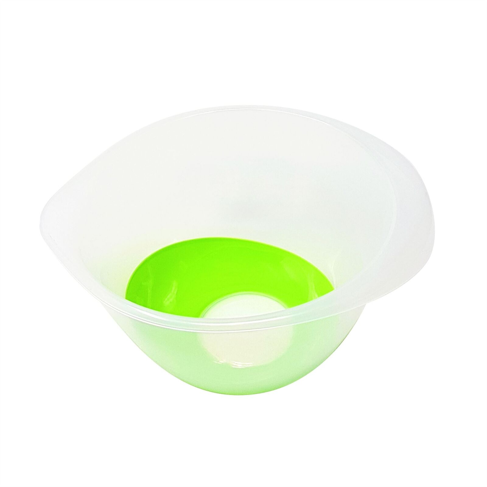 10 KITCHEN FOOD COOKING NONE SLIP MIXING BOWL BPA FREE PLASTIC GREEN CLEAR 6 LTR