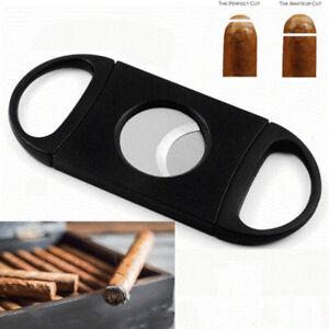 Cigar-Cutter-EDC-Edelstahl-Doppel-Klingen-Guillotine-Messer-Tasche-Schere
