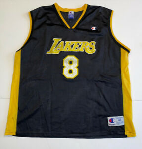 Details about KOBE BRYANT JERSEY MENS 48 XL CHAMPION BLACK YELLOW GOLD DISTRESSED FADE LAKERS