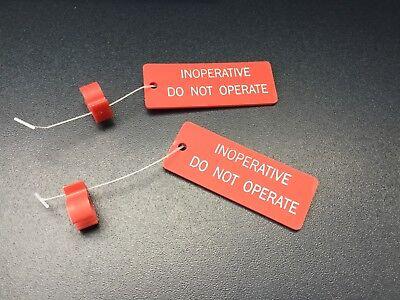 C//B 1 pair of AIRCRAFT CIRCUIT BREAKERS LOCKOUT RINGS w// Inoperative tag