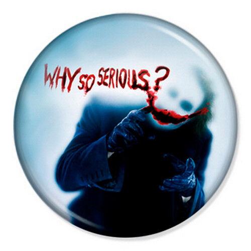 "Batman - The Joker 25mm 1"" Pin Badge Button DC Dark Knight Superhero Ledger 7"
