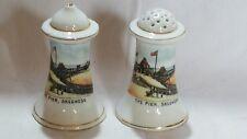 blue & white vintage Victorian salt and peper pot