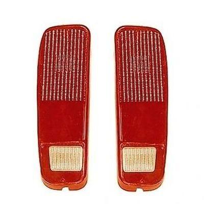 Brand New Pair (Left & Right) Tail Light Lenses Fits Ford E Series Van 1973-1991