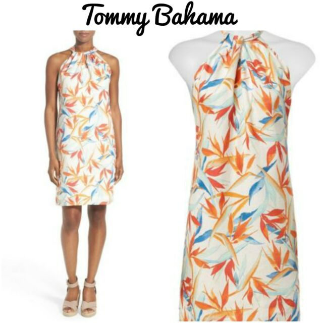 0e78bd86b8057 NEW Tommy Bahama Women's DRESS Palms Of Paradise Leaves Linen Size ...