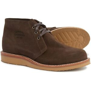 """chippewa milford casual chukka boots men suede 5"""" lace up"""