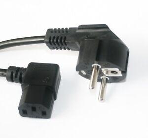 50cm-Strom-Netz-Kabel-Winkel-Schutzkontakt-Stecker-Kaltgeraete-Buchse-gewinkelt