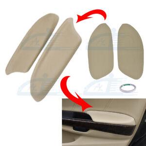 Fits Honda Accord Sedan 2008-2012 Leather Door Panels Armrest Cover Beige Tan