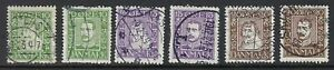 DENMARK-1924-300th-Anniversary-of-Danish-Post-head-left-SG218A-23A-used