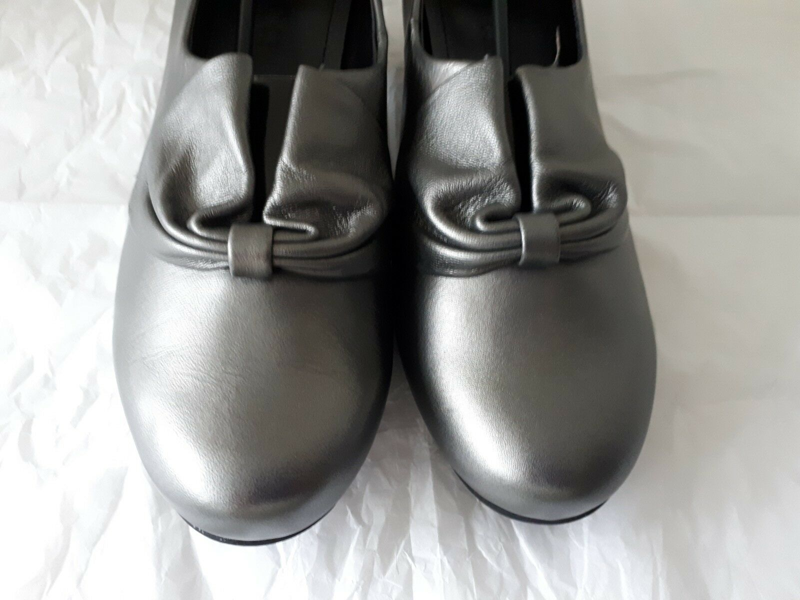 NEW HOTTER women LEATHER PEWTER COURT SHOES SIZE UK 6 6 6 BEST SELLERS cc93ff