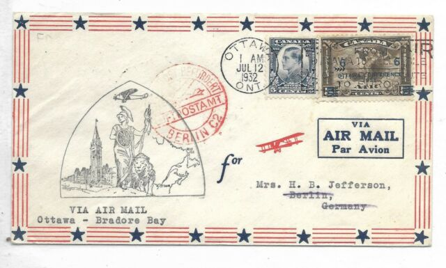 First Day Cover / First Flight Cover  AAMC #3231 Scott / Unitrade #'s 193 & C4