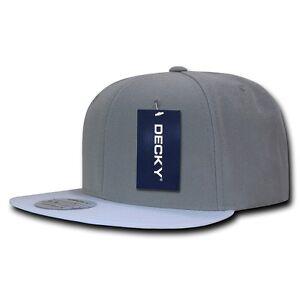 05718f112bc DECKY Brim Two Tone Snapbacks 6 Panel Baseball Hats Caps Unisex