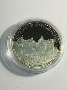 100% De Qualité Médaille Citadelle De Carcassonne Les Plus Beaux Trésors Du Patrimoine De France Ventes Pas ChèRes 50%
