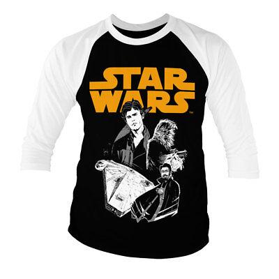 Officially Licensed Star Wars The Last Jedi Logo Black Baseball 3//4 Sleeve Tee